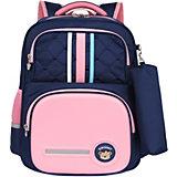 Рюкзак Aliсiia, с пеналом, сине-розовый