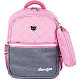 Рюкзак Aliсiia, с пеналом, розово-серый