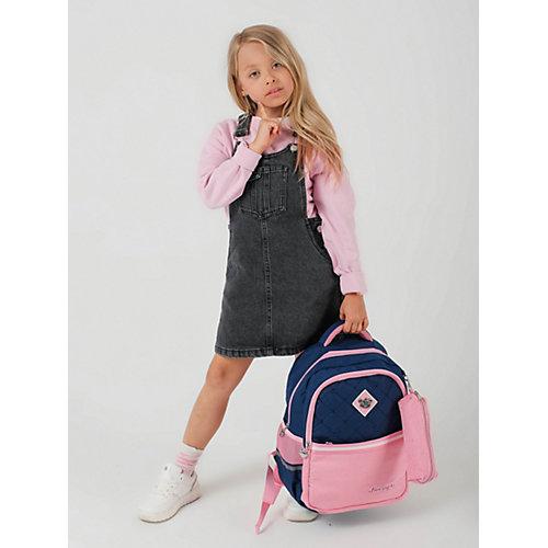 Рюкзак Aliсiia, с пеналом, сине-розовый - rosa/grau от Aliciia