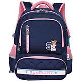 Рюкзак Aliсiia RS2749, с пеналом, сине-розовый