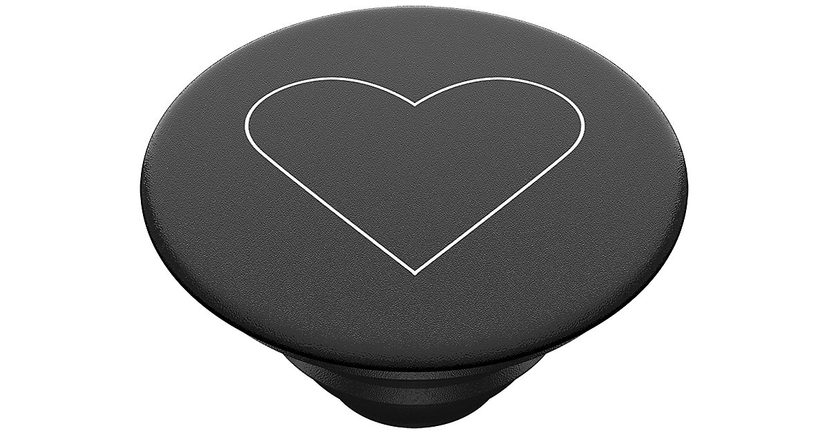 PopGrip White Heart Black schwarz Modell 2