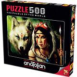 Пазл Anatolian Принцесса и волк, 500 элементов
