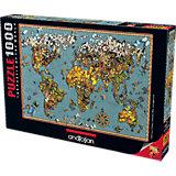 Пазл Anatolian Карта мира Бабочки, 1000 элементов