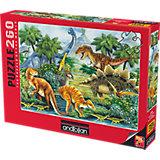 Пазл Anatolian Долина Динозавров I, 260 элементов