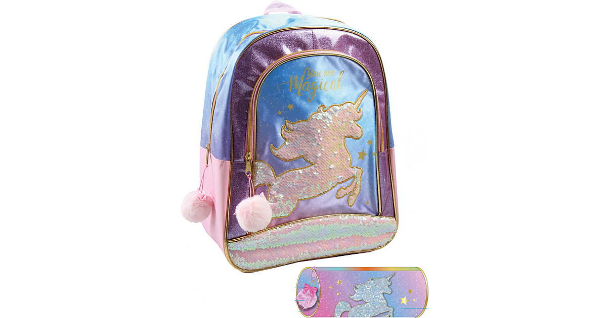 Jacob UNI2975720S Jacob Rucksackset Unicorn, 2-tlg. bunt