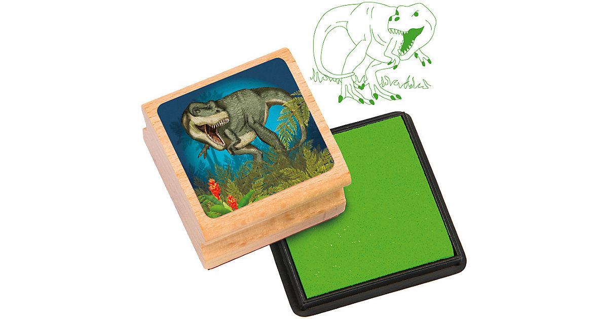 Stempelset Dinosaurier, 2-tlg. natur/grün