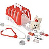 Набор ветеринара Klein, с переноской и собачкой