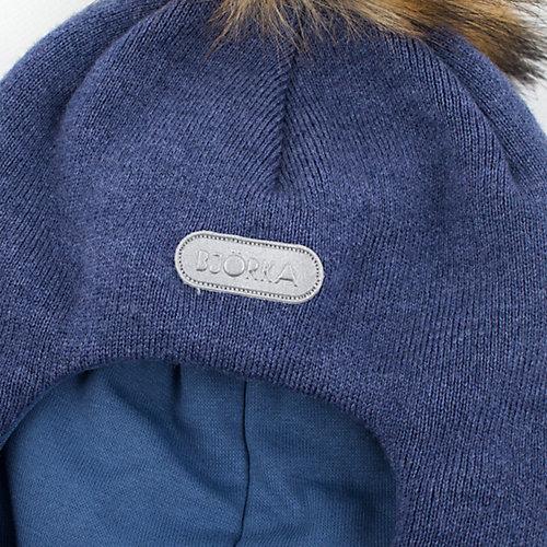 Шапка-шлем  BJÖRKA - джинсовый от BJÖRKA