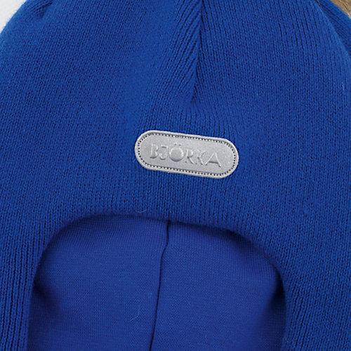 Шапка-шлем  BJÖRKA - синий от BJÖRKA