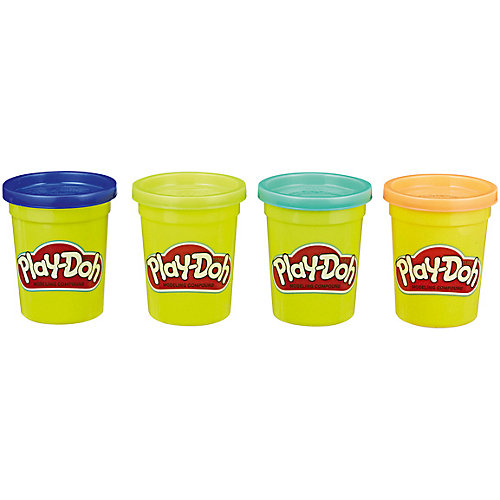 Набор пластилина Play-Doh Яркие цвета, 4 баночки от Hasbro