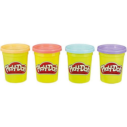 Набор пластилина Play-Doh Пастельные цвета, 4 баночки от Hasbro