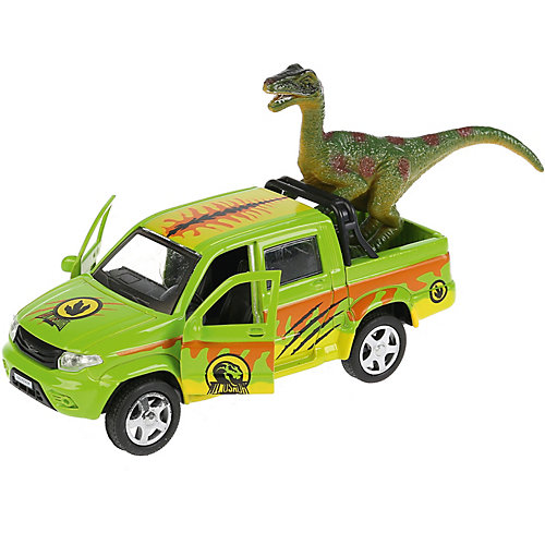 "Машинка Технопарк ""UAZ Pickup сафари"", с фигуркой, инерционная, 12 см от ТЕХНОПАРК"