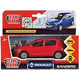 """Машинка """"Технопарк"""" Renault Sandero, инерционная, 12 см, красная"""