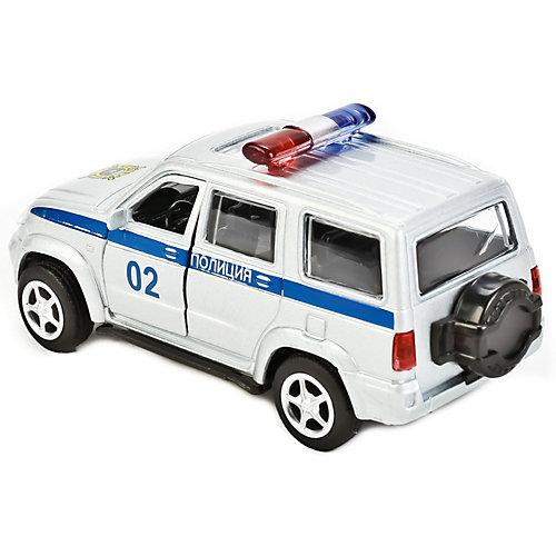 "Машинка Технопарк ""УАЗ Патриот полиция"", инерционная от ТЕХНОПАРК"