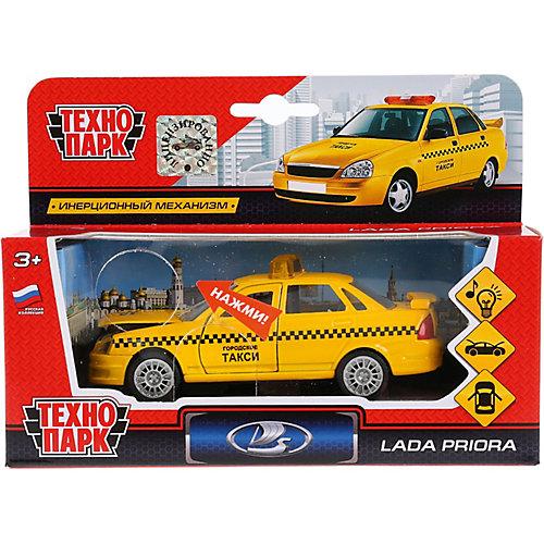 """Машинка Технопарк """"Лада Приора такси"""", инерционная, свет и звук, 12,5 см от ТЕХНОПАРК"""