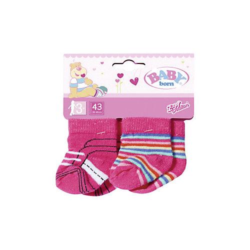 Одежда для куклы Zapf Creation Baby born Носки, 2 пары, розовые от Zapf Creation