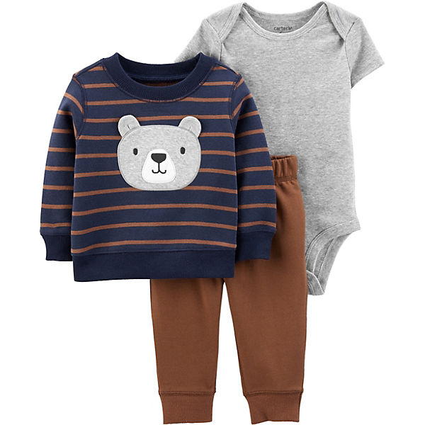 Baby Set Sweatshirt + Body + Leggings für Jungen
