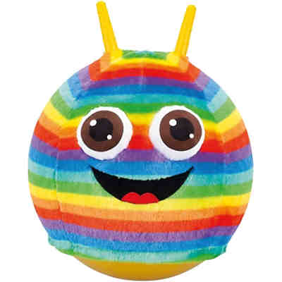 Fluffy Sprungball Rainbow Big Eyes Monster, 45-50 cm