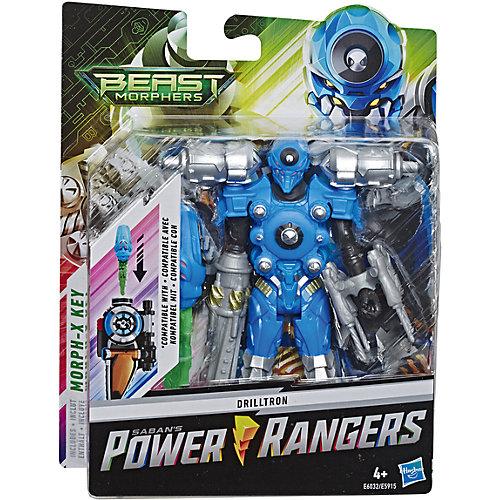Игровая фигурка Power Rangers Beast Morphers Дриллетрон с боевым ключом, 15 см от Hasbro