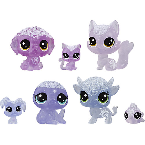 "Набор фигурок Littlest Pet Shop ""Холодное царство"", 7 лиловых петов от Hasbro"