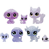 "Набор фигурок Littlest Pet Shop ""Холодное царство"", 7 лиловых петов"