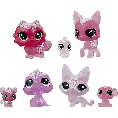 "Набор фигурок Littlest Pet Shop ""Холодное царство"", 7 розовых петов от Hasbro"