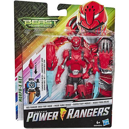 Игровая фигурка Power Rangers Beast Morphers Красный Рейнджер с боевым ключом, 15 см от Hasbro