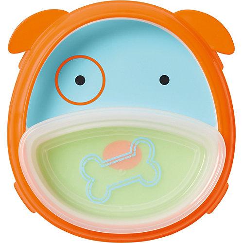 """Тарелка 2 в 1 Skip Hop """"Собака"""" - синий/оранжевый от Skip Hop"""