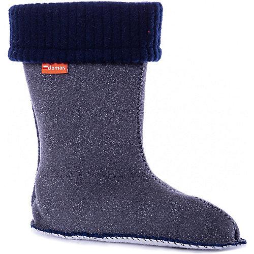 Резиновые сапоги со съемным носком Demar Twister Lux Print - синий от Demar