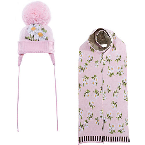Комплект Gakkard: шапка и шарф - блекло-розовый от Gakkard