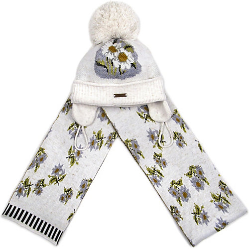Комплект Gakkard: шапка и шарф - экрю от Gakkard