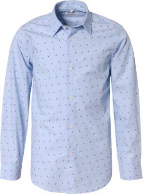 Langarmhemd mit Kentkragen für Jungen, Gr. 128-176