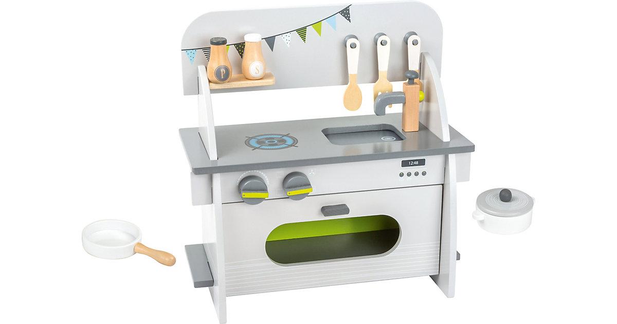 Kinderküche kompakt grau/weiß