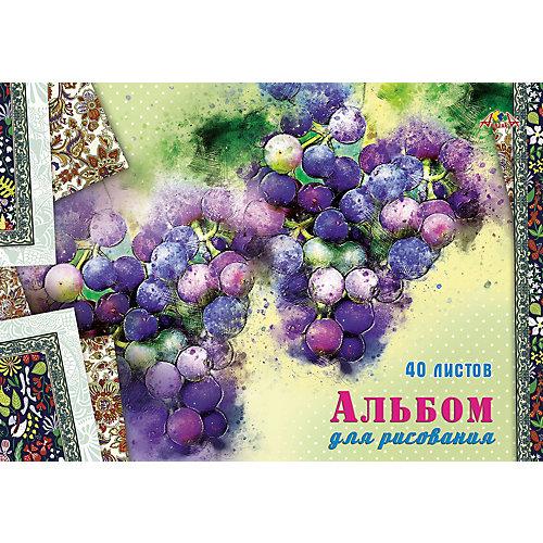 """Альбом для рисования Апплика """"Виноград"""", 40 листов от АппликА"""