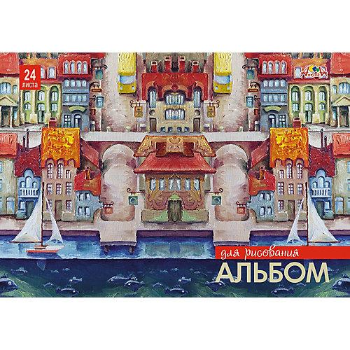"""Альбом для рисования Апплика """"Набережная. Парусники"""", 24 листа от АппликА"""