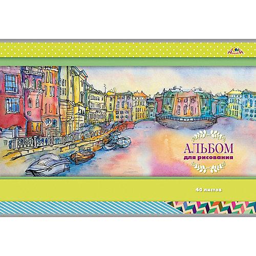 """Альбом для рисования Апплика """"Город на реке"""", 40 листов от АппликА"""