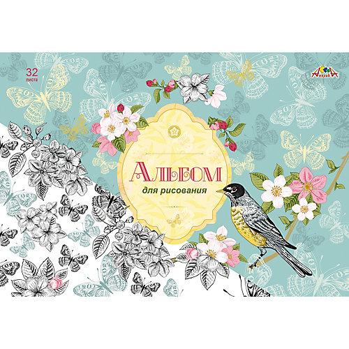 """Альбом для рисования Апплика """"Весенние цветы"""", 32 листа от АппликА"""