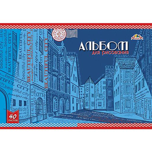 """Альбом для рисования Апплика """"Зарисовка улицы"""", 40 листов от АппликА"""