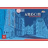 """Альбом для рисования Апплика """"Зарисовка улицы"""", 40 листов"""