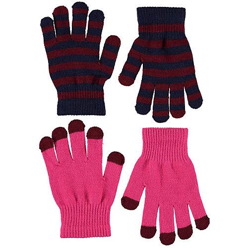Перчатки Molo, 2 пары - розовый от Molo