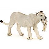 Игровая фигурка PaPo Белая львица с детёнышем