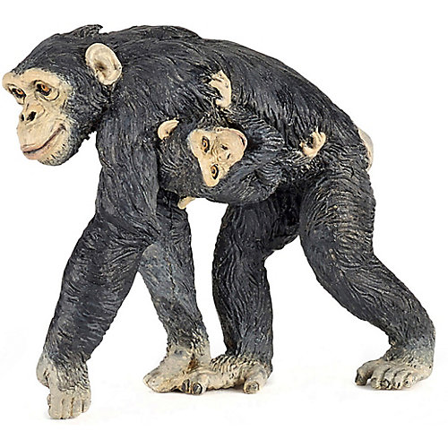 Игровая фигурка PaPo Шимпанзе с детенышем от papo