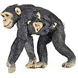 Игровая фигурка PaPo Шимпанзе с детенышем