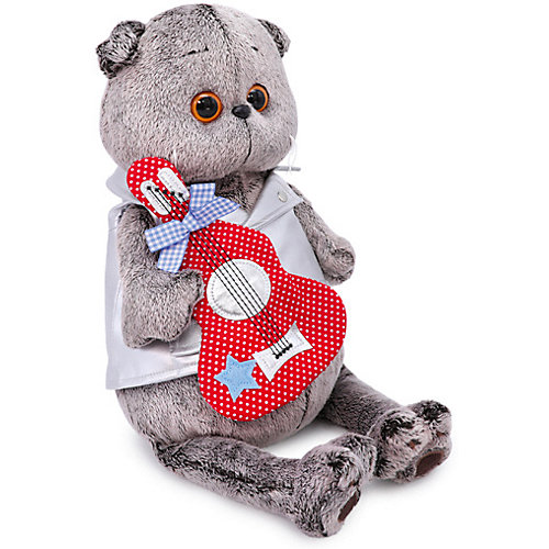Мягкая игрушка Budi Basa Кот Басик в жилете с гитарой, 22 см от Budi Basa