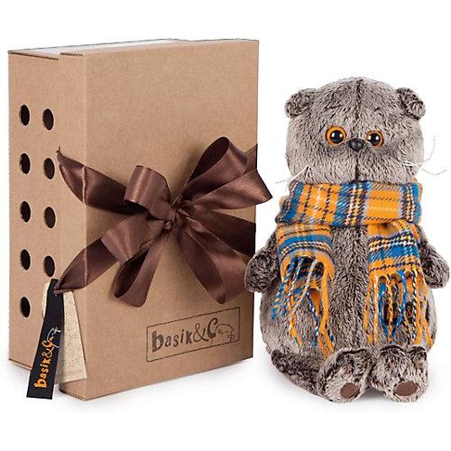 Мягкая игрушка Budi Basa Кот Басик в красномклетчатомберетесбантомизфлиса, 19 см от Budi Basa