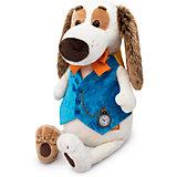 Мягкая игрушка Budi Basa Собака Бартоломей в жилете с часами, 27см