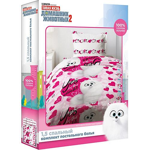 Детское постельное белье 1,5 сп Непоседа «Тайная жизнь домашних животных» - розовый от Непоседа