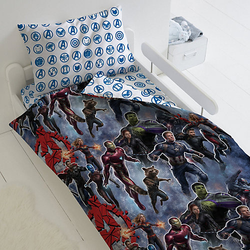 Детское постельное белье 1,5 сп Непоседа «Мстители. На страже» - синий