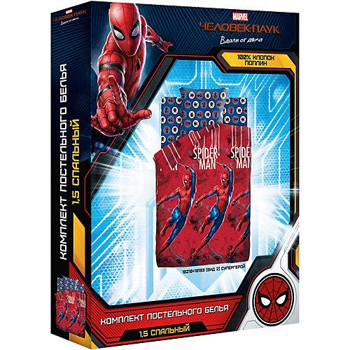 Детское постельное белье 1,5 сп  Непоседа «Человек-паук» - красный