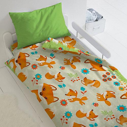 Детское постельное белье 1,5 сп Непоседа «Лисята» - зеленый от Непоседа